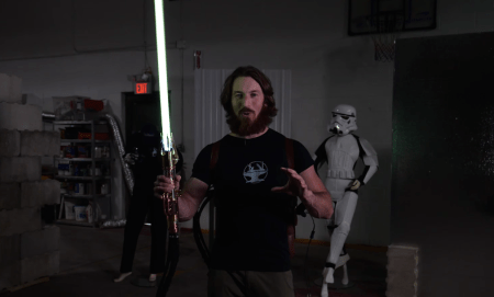 Engineer Builds Star Wars Lightsaber That Burns At 4,000 Degrees
