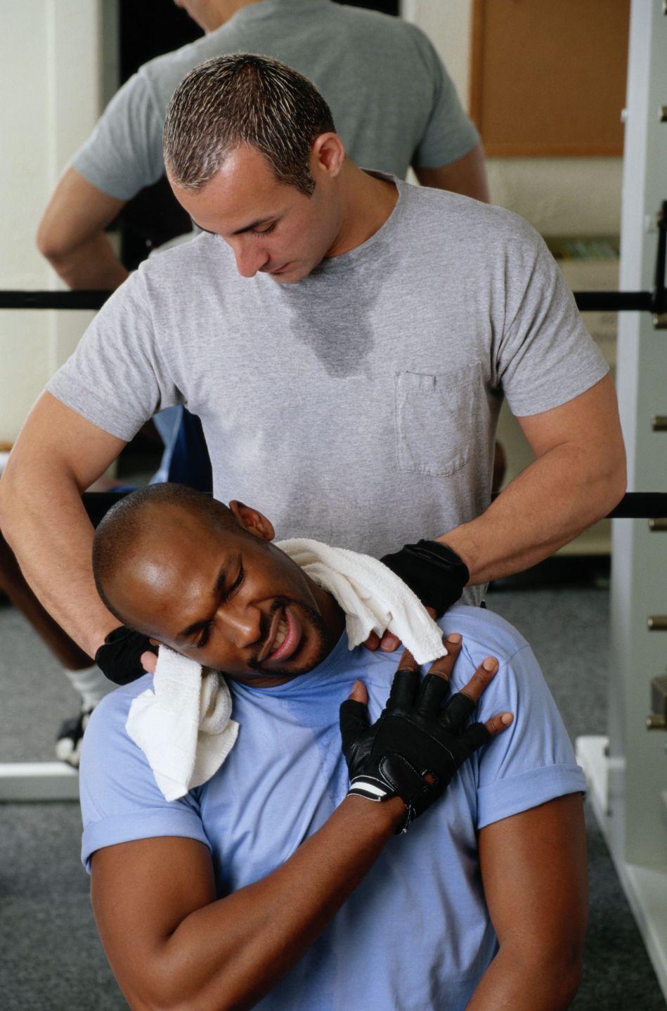 Massaging Shoulders