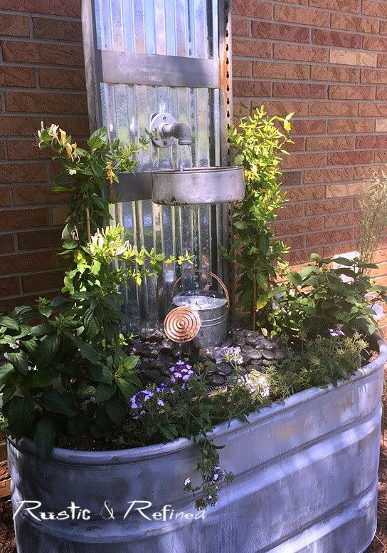 22 Outdoor Fountain Ideas - How To Make a Garden Fountain ... on Water Feature Ideas For Patio id=50252