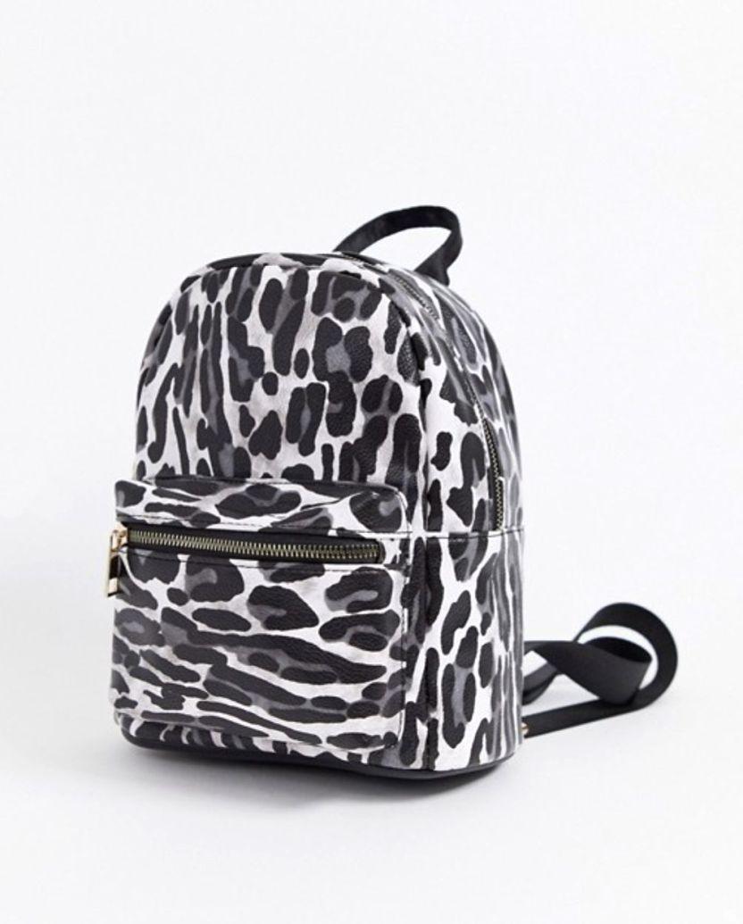 mochila con estampado de leopardo y detalle de bolsillo de yoki fashion
