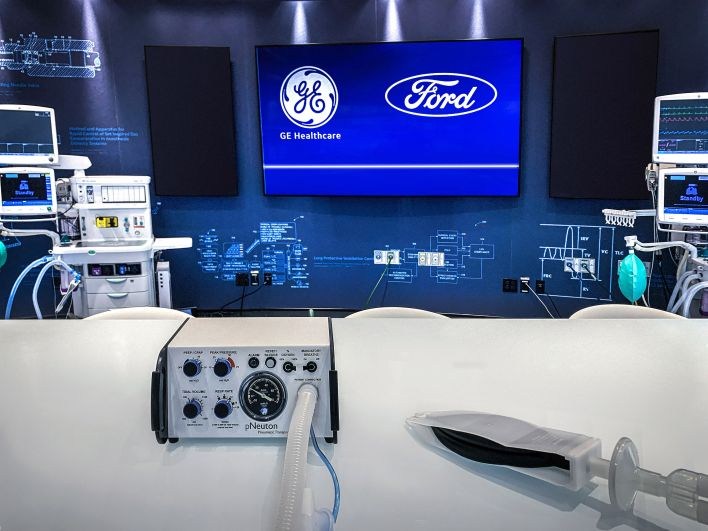 ford, ge to build 50,000 ventilators by july 4 at michigan plant