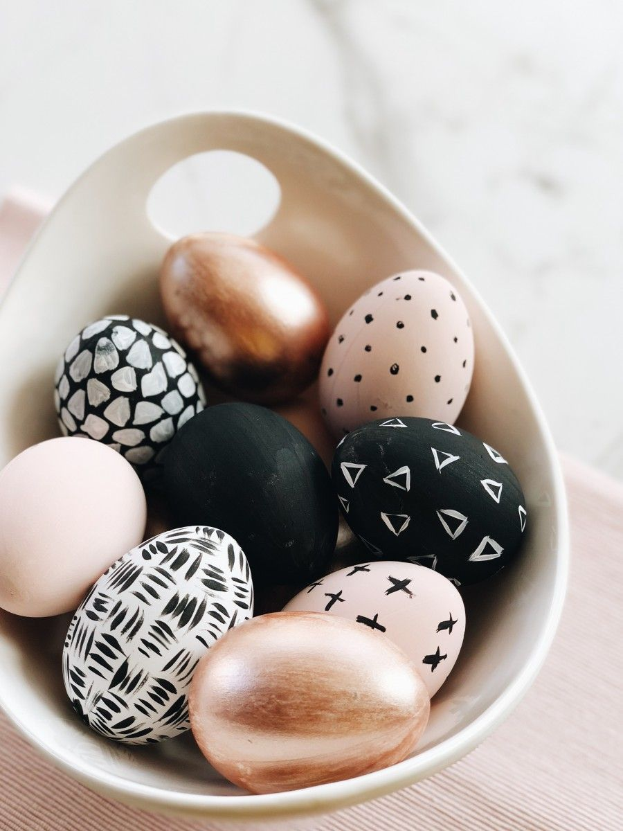 modern painted eggs easter decorations