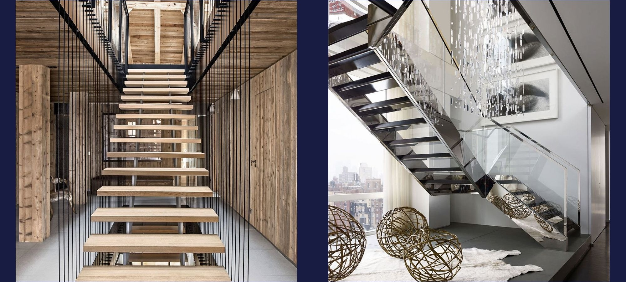 20 Striking Open Stairs Modern Open Staircase Design Ideas | Duplex Staircase Railing Designs | Indoor | Wooden | Grill | Two Story House Stair | Floor To Ceiling