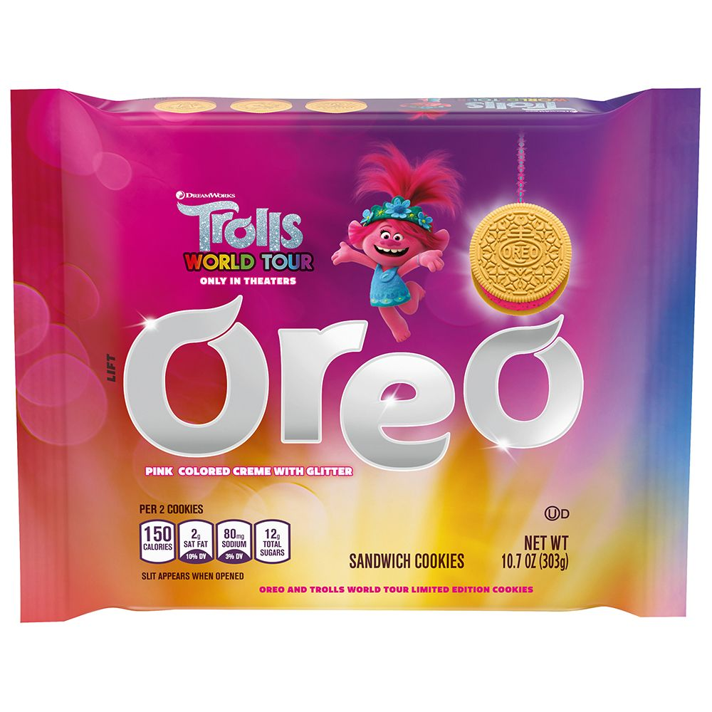 Oreo Has Two New Trolls Inspired Cookies And One Has Popping Candy In The Creme