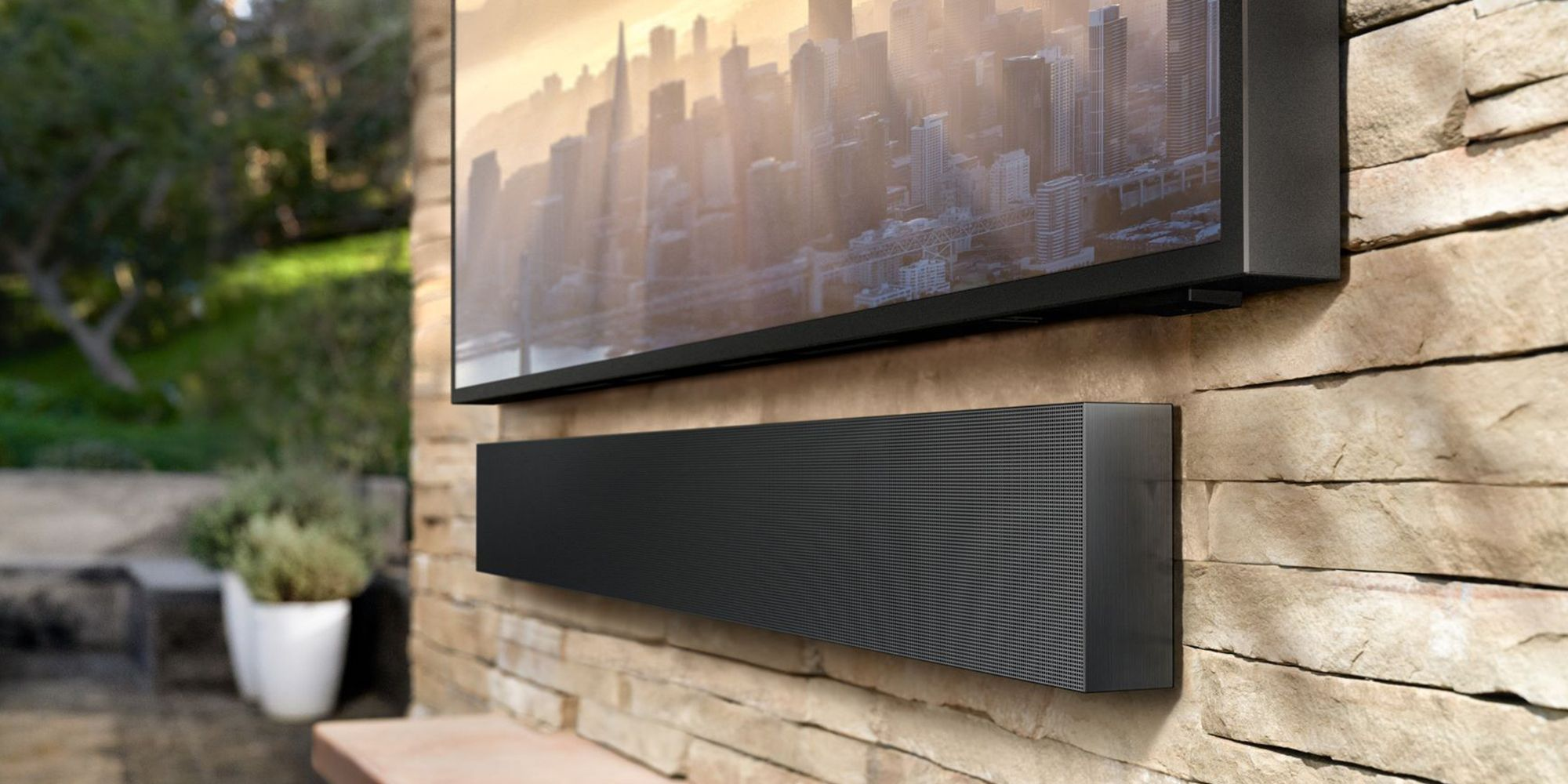 an outdoor tv will take your backyard enjoyment to the next level