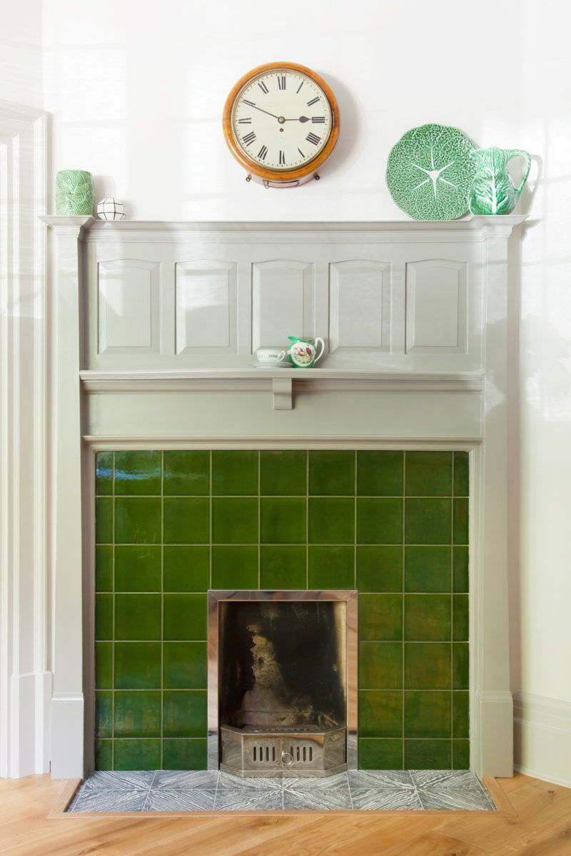 14 chic painted fireplaces mantel