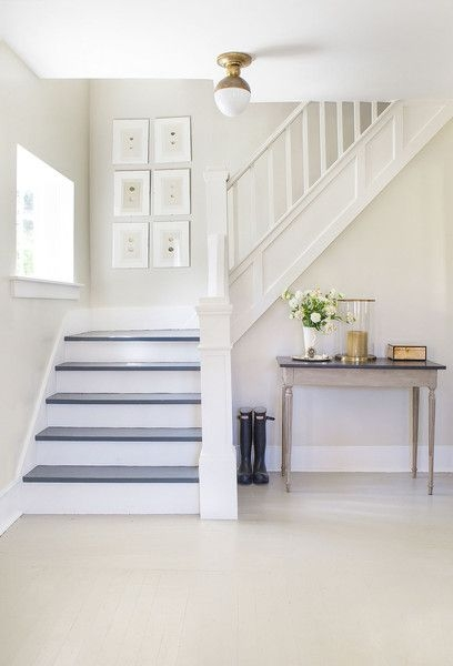 25 Pretty Painted Stair Ideas Creative Ways To Paint A Staircase | Stairs Wall Paint Design | Designer | Fancy | Beautiful | Staircase Railing Wood | Wall Colour