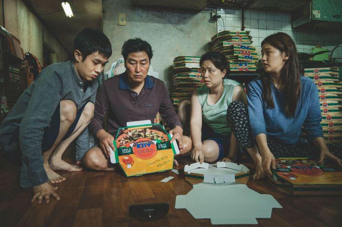 parasite, the family kim woo sik choi, kang ho song, hye jin jang, so dam park