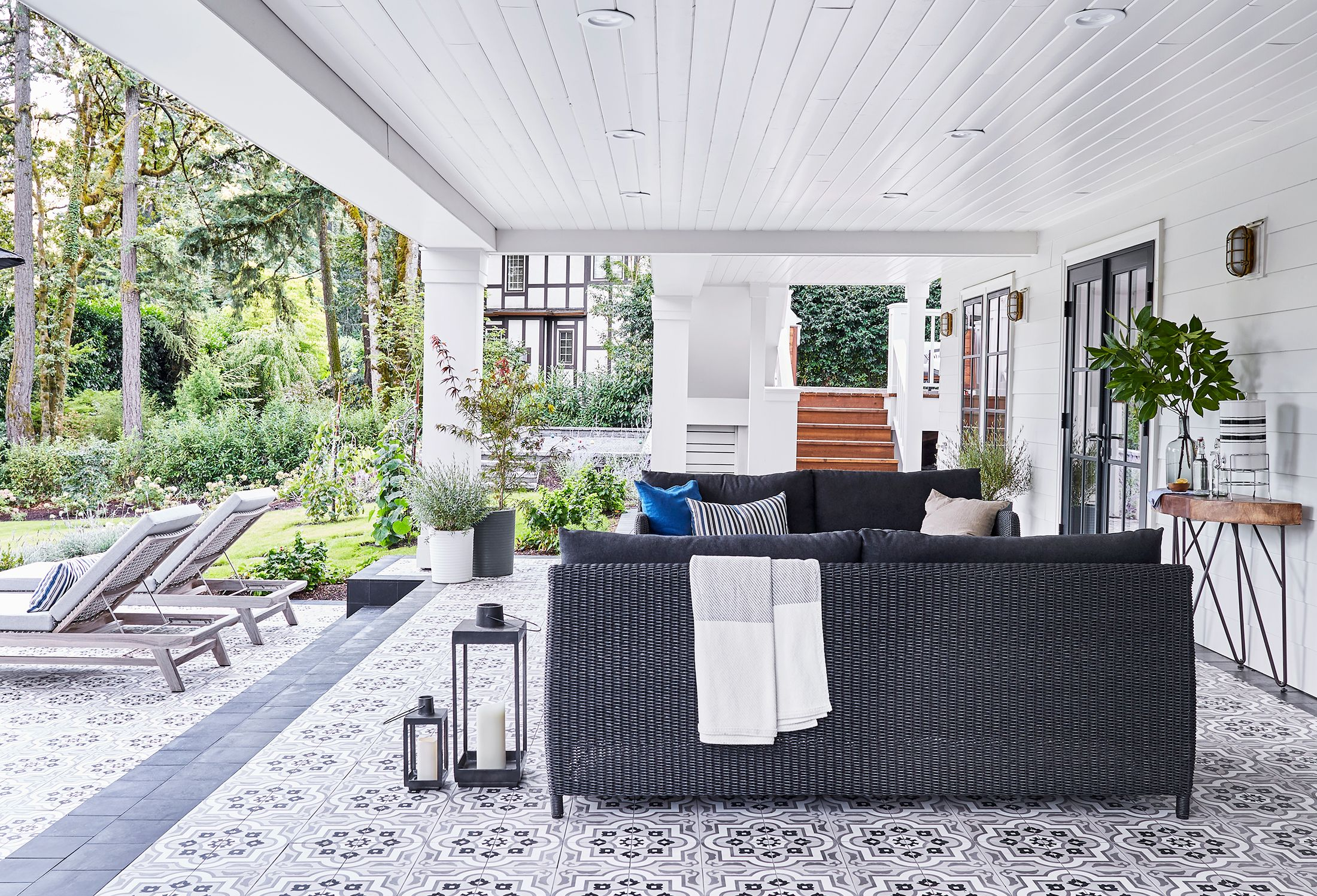 55 Best Patio Ideas for 2020 - Stylish Outdoor Patio ... on Backyard Patio Extension Ideas id=51416