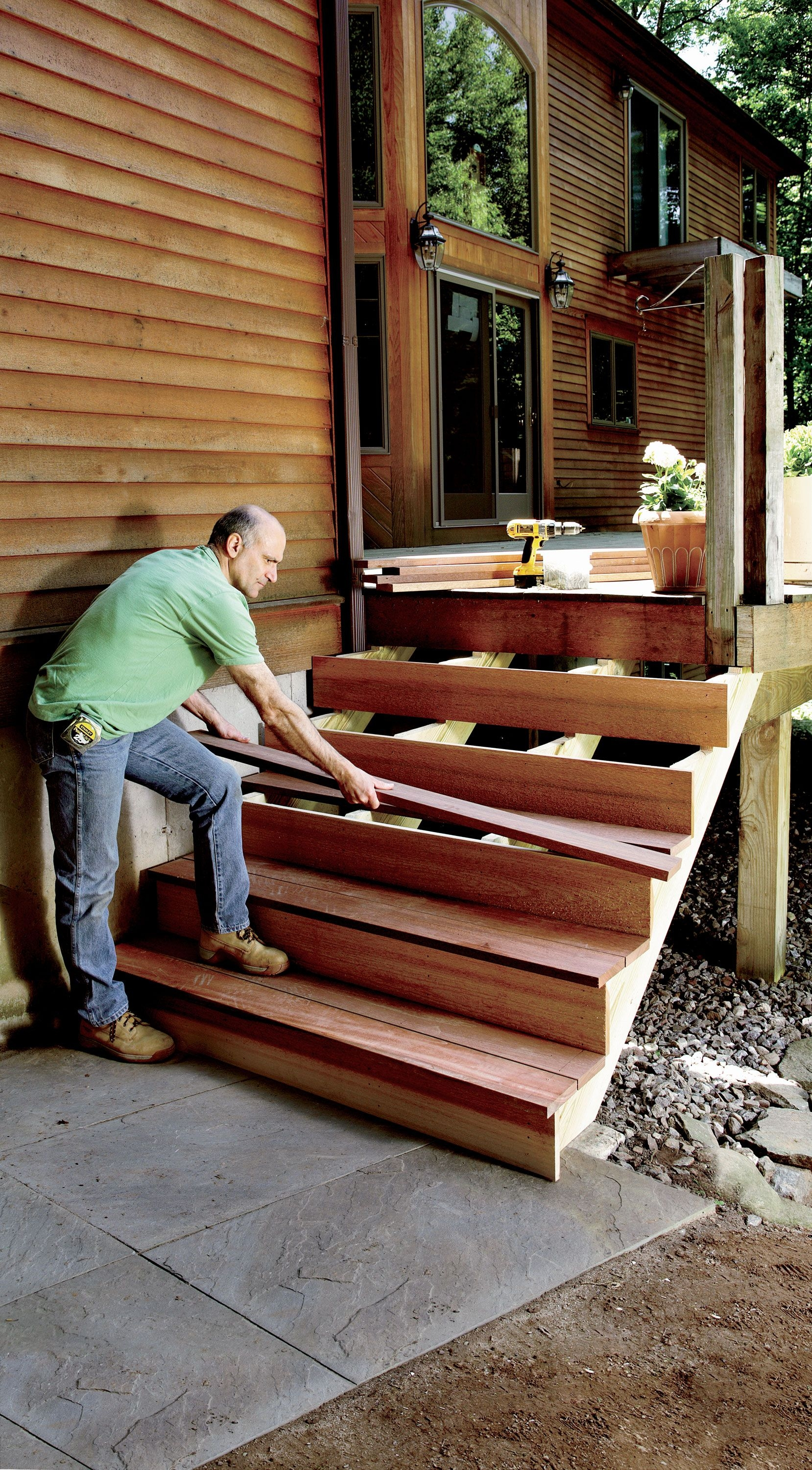 How To Build Stairs Stairs Design Plans | Wood For Outdoor Stairs | Railing | Risers | Staircase | Deck Railing | Treated Pine
