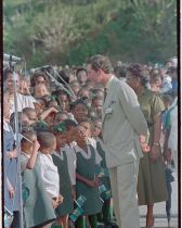 Prince Charles Talking to Schoolchildren