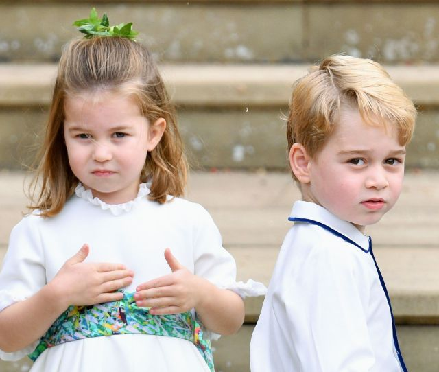 Prince George And Princess Charlotte At Princess Eugenie And Jack Brooksbanks Wedding