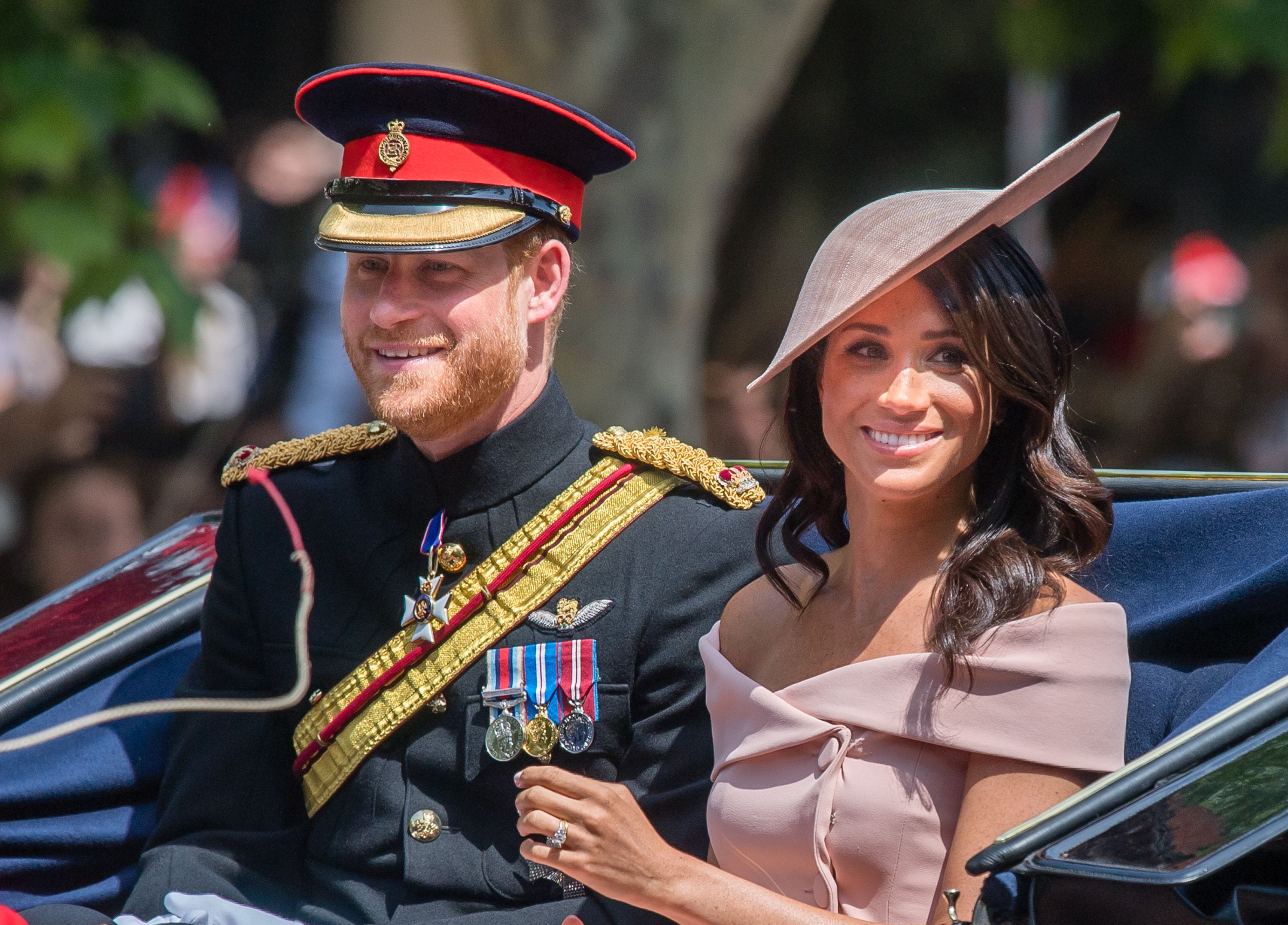Meghan Markle and Prince Harry at Trooping The Colour 2018