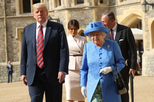Image result for trump visit queen of england july 2018