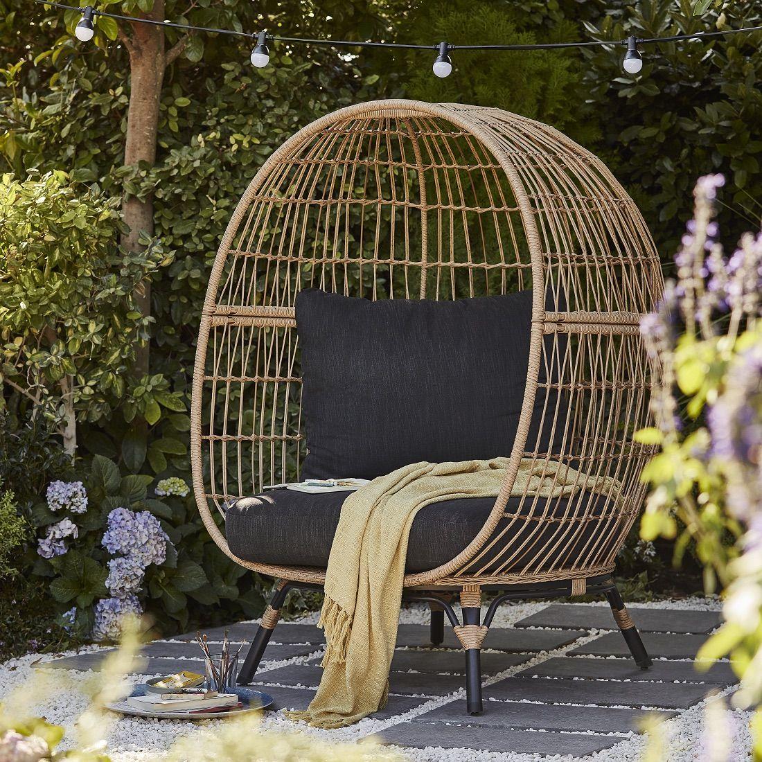 B Q Launches Rattan Effect Egg Chair Rattan Garden Furniture