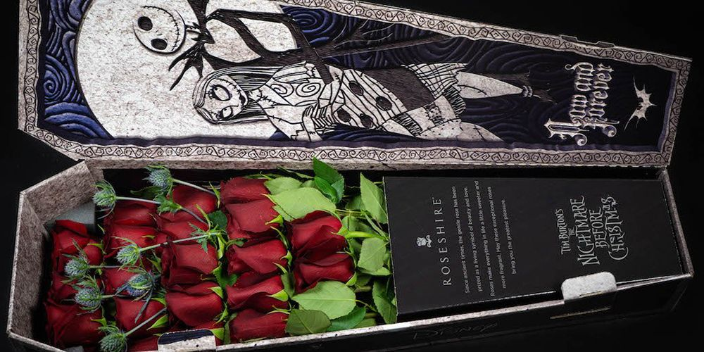 These Nightmare Before Christmas Roses Come In A Coffin For The Creepiest Bouquet Ever