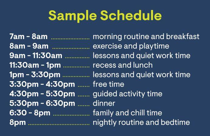 coronavirus quarantine sample schedule for families