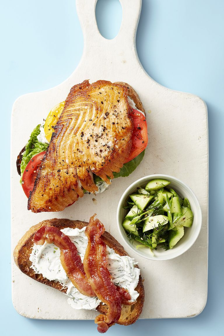 salmon blt healthy lunch ideas 1555338054 - Healthy Things to Eat for Lunch -19 Healthy Lunch Ideas for You