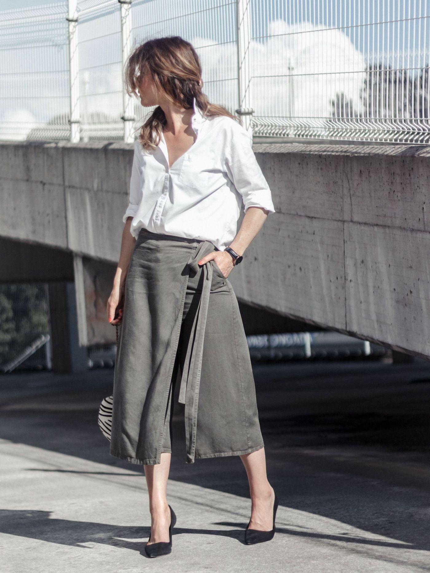 looks con falda pantalón