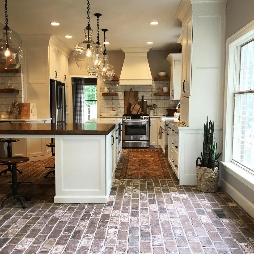 before installing brick floors
