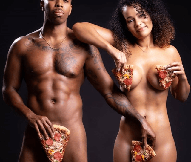 This Couple Posed Naked With Pizza For Their Engagement Photos