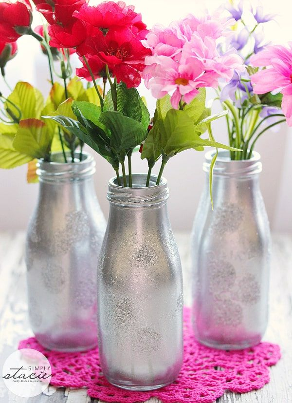 silver flower vase diy valentines day gifts