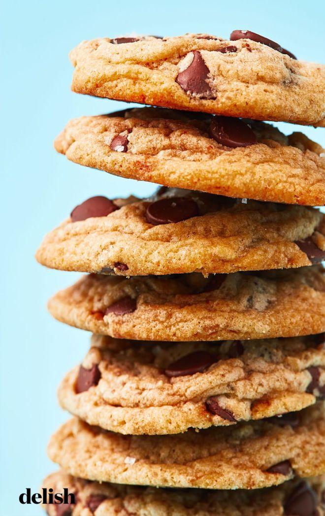Soft & Fudgy Chocolate Chip Cookies - Delish.com