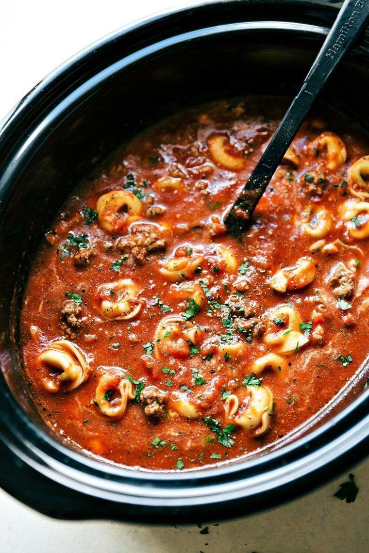 slow cooker soup recipes tortellini