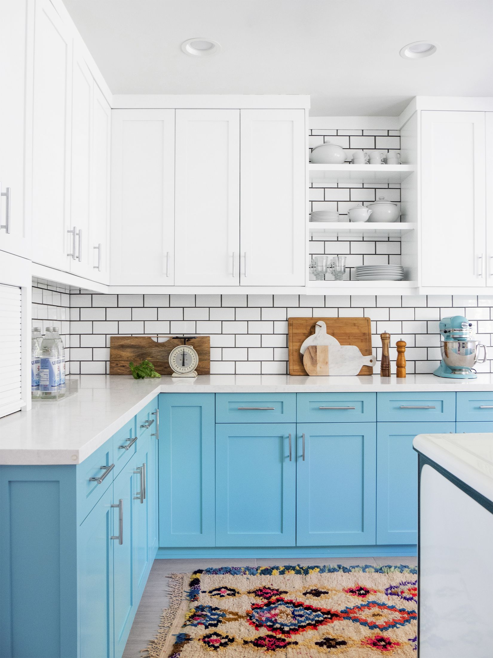 Spring Decor Ideas - Blue Cabinets