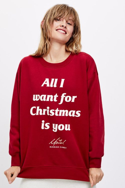 Resultado de imagen de sudadera all i want for christmas is you oysho