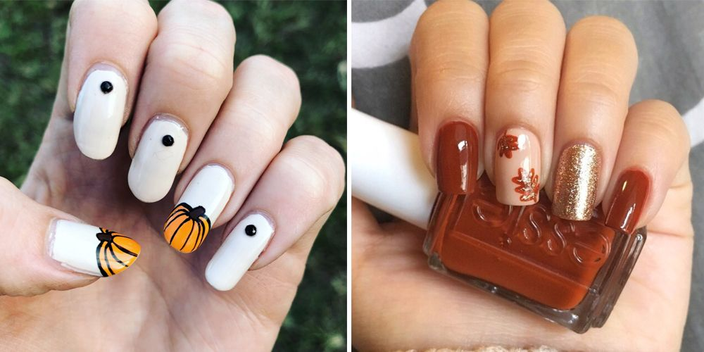 17 Cute Thanksgiving Nail Designs 2018 Best Nail Art For
