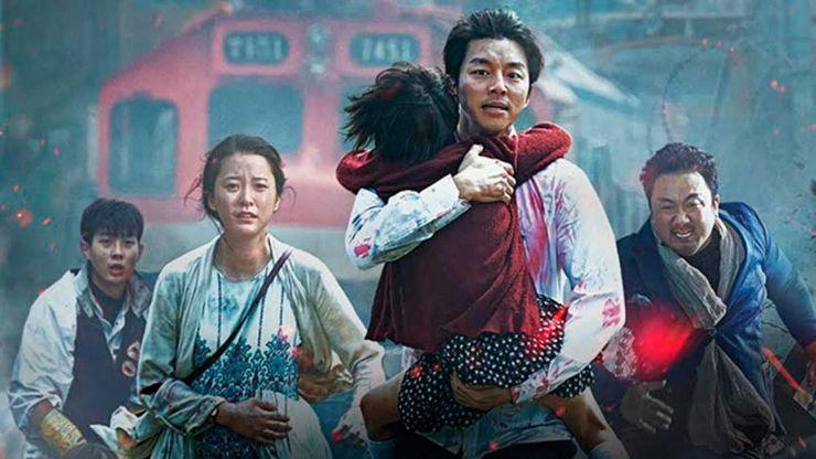 una familia coreana escapa de unos zombies en la película train to busan