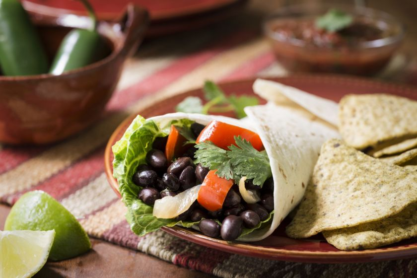 Vegetarian Black Bean Burrito