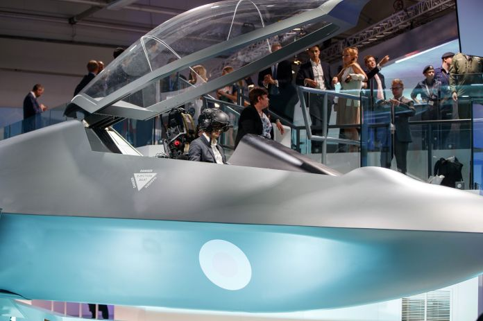 BRITAIN-AVIATION-SHOW-AEROSPACE-MANUFACTURING