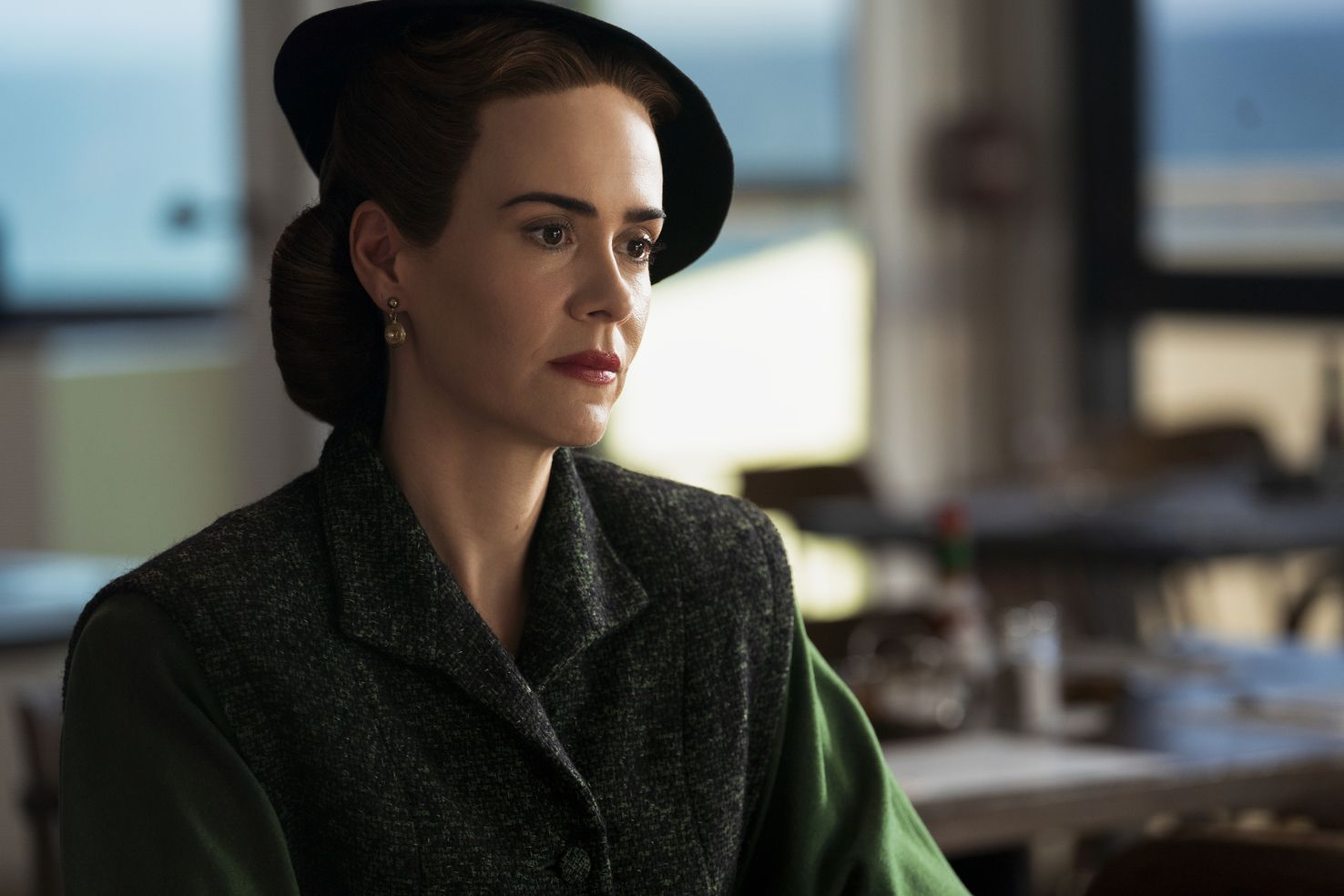 ratched l to r sarah paulson as mildred ratched in episode 106 of ratched cr saeed adyaninetflix © 2020