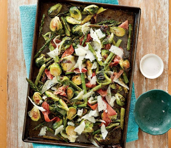 roasted vegetables and cheese