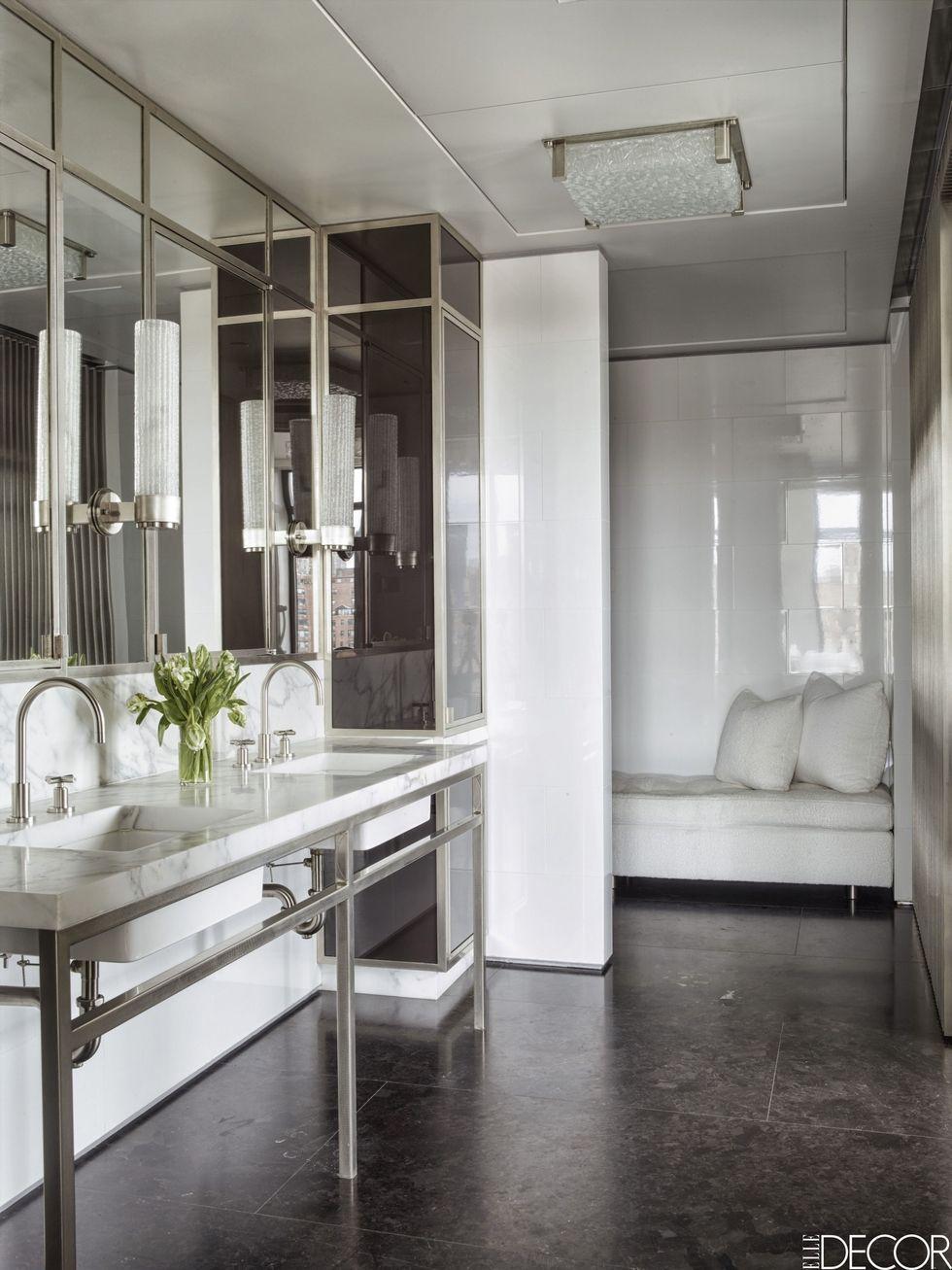 25 White Bathroom Design Ideas - Decorating Tips for All ... on White Bathroom Design Ideas  id=79340