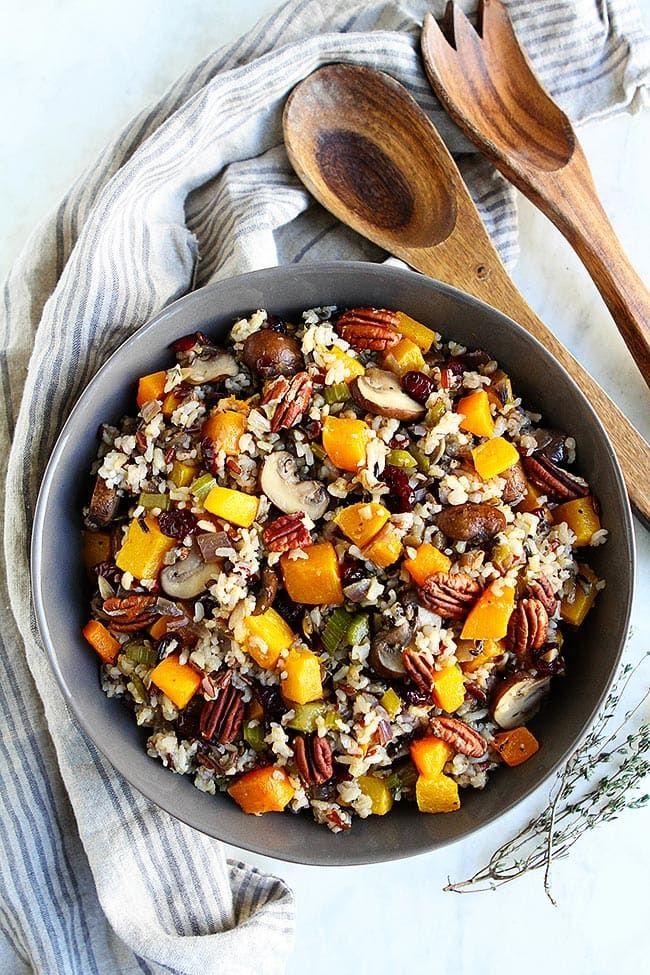 vegan thanksgiving   wild rice stuffing
