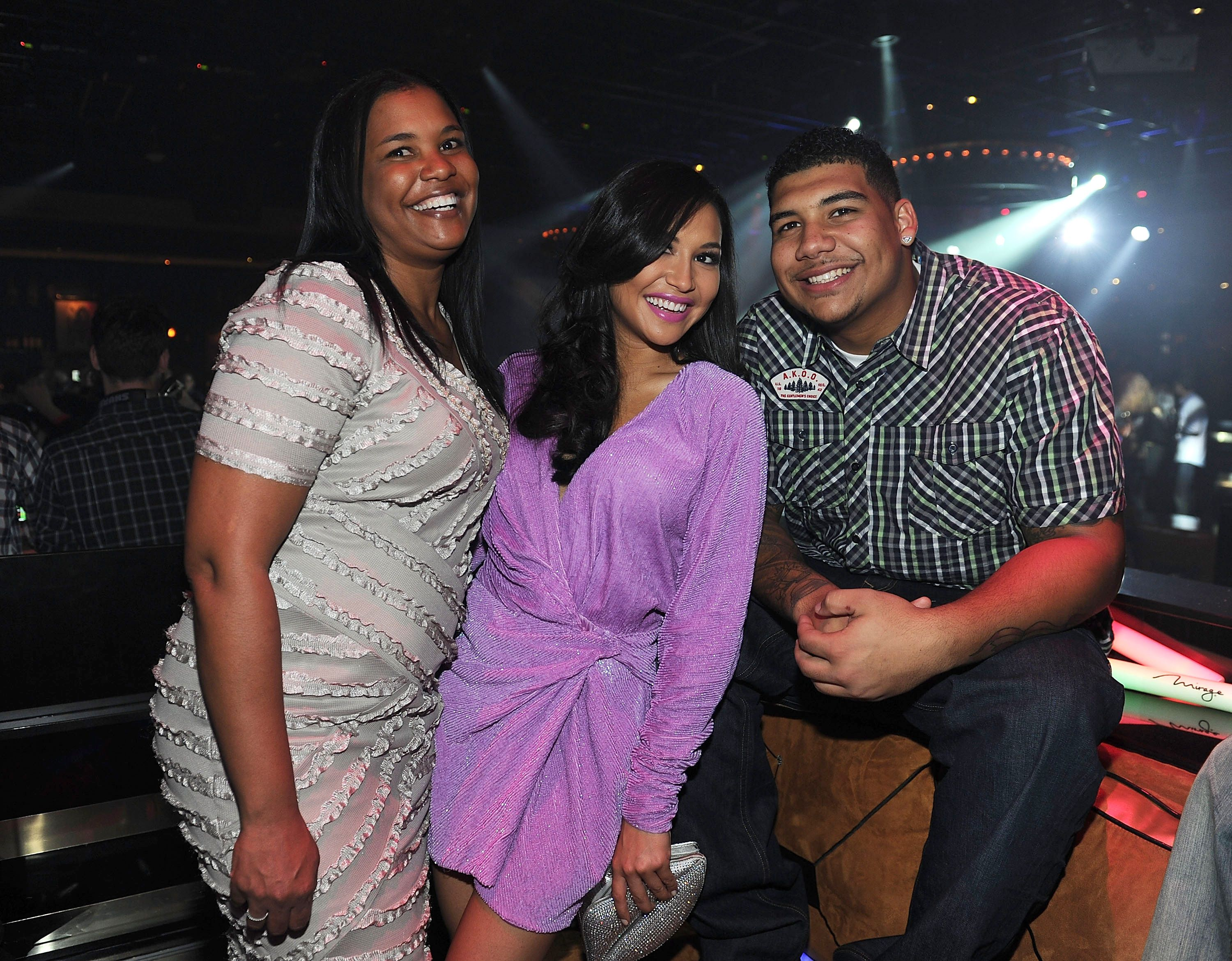 naya rivera with her mom and brother in 2012