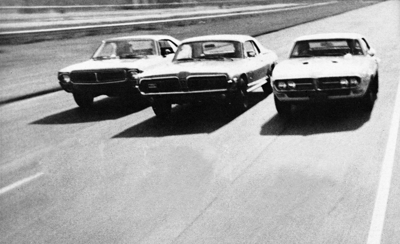 All 3 body styles offered (coupe, fastback, conv.). 1968 American Muscle Car Wheel To Wheel Comparison
