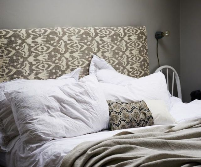 How to make a fabric headboard image