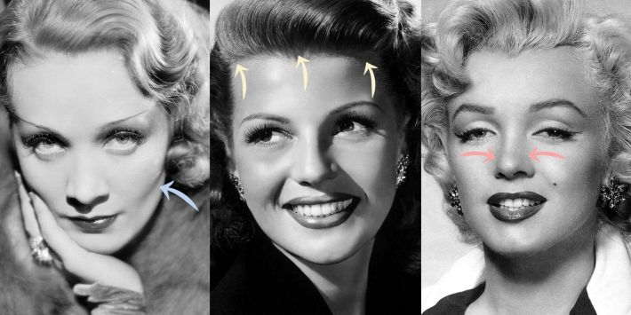 old hollywood plastic surgery secrets - marilyn monroe plastic surgery
