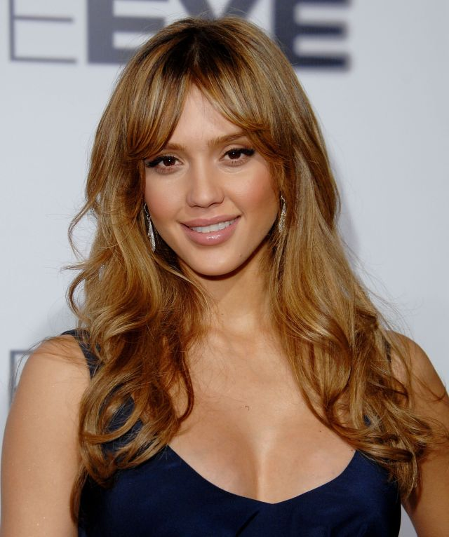 35 long hairstyles with bangs - best celebrity long hair