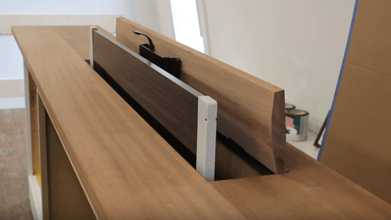 how to build a hidden tv lift cabinet
