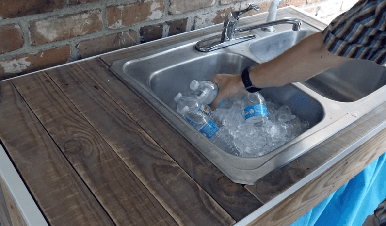 how to build an outdoor sink