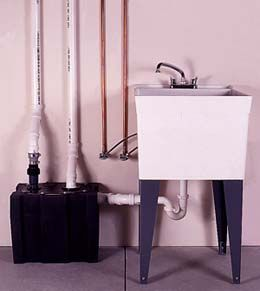 installing a basement laundry sink