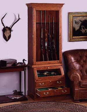 build a display cabinet for firearms