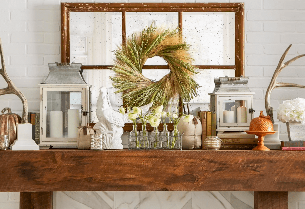 30 Best Fall Home Decorating Ideas 2018   Autumn Decorations for     Dried Flowers and Wreaths LLC