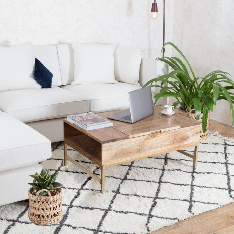 kassidy lift top storage coffee table