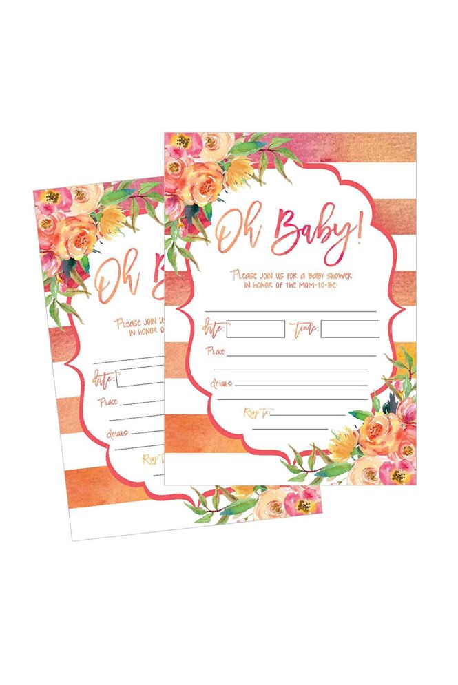 Fill In Cute Baby Shower Invitations
